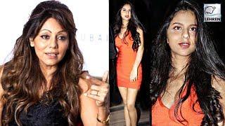 Shah Rukh's Wife Gauri Khan's REACTION On Suhana's Orange Dress | LehrenTV