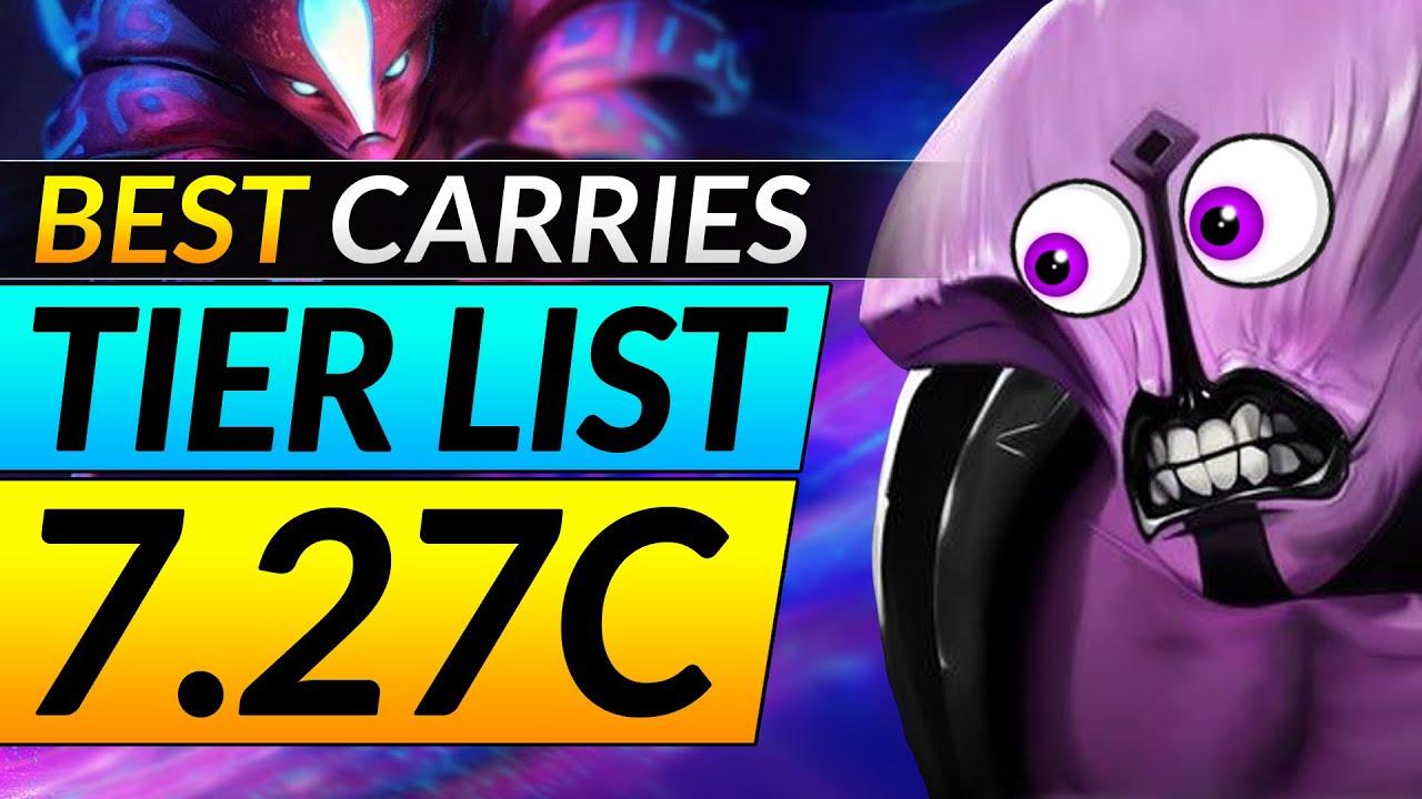 New 7 27c Broken Carries Tier List Ranking The Best And Worst Heroes Dota 2 Meta Pro Guide Youtube