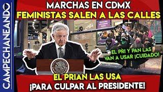 MARCHAS EN CDMX SON USADAS PARA CULPAR A AMLO ¡CUIDADO!