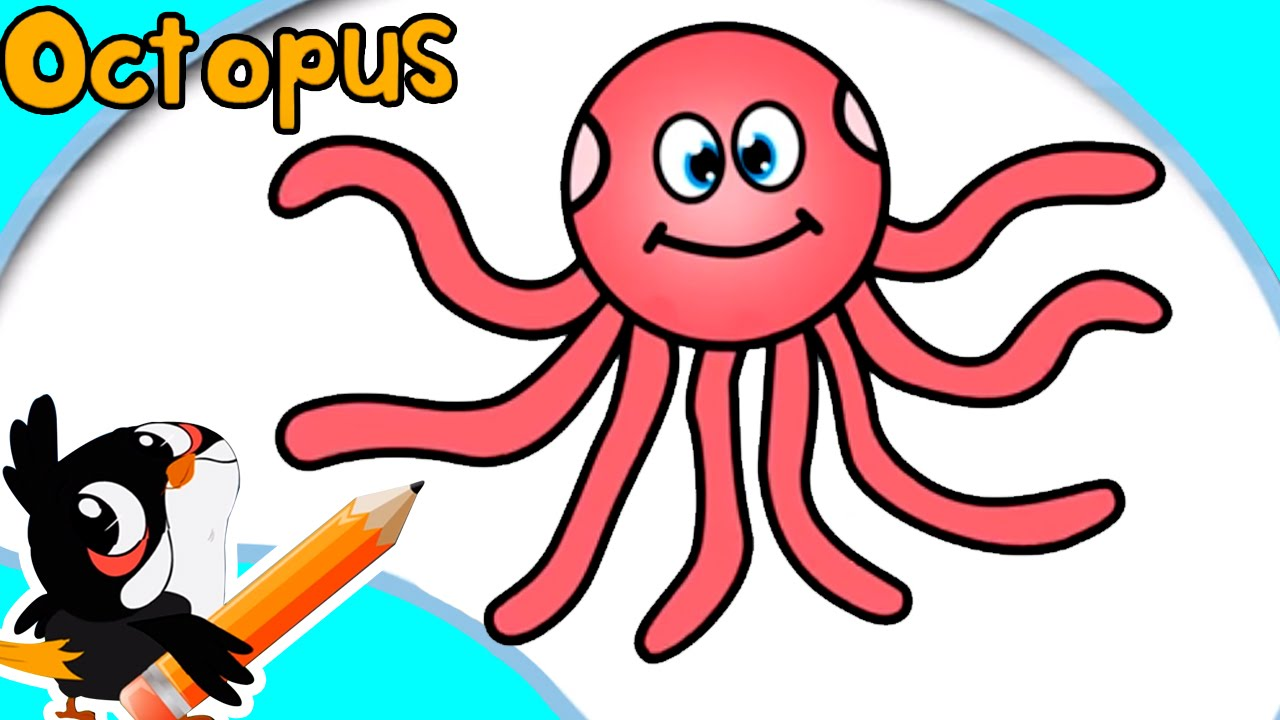 How to draw an octopus easy step by step drawings for Octopus drawing easy