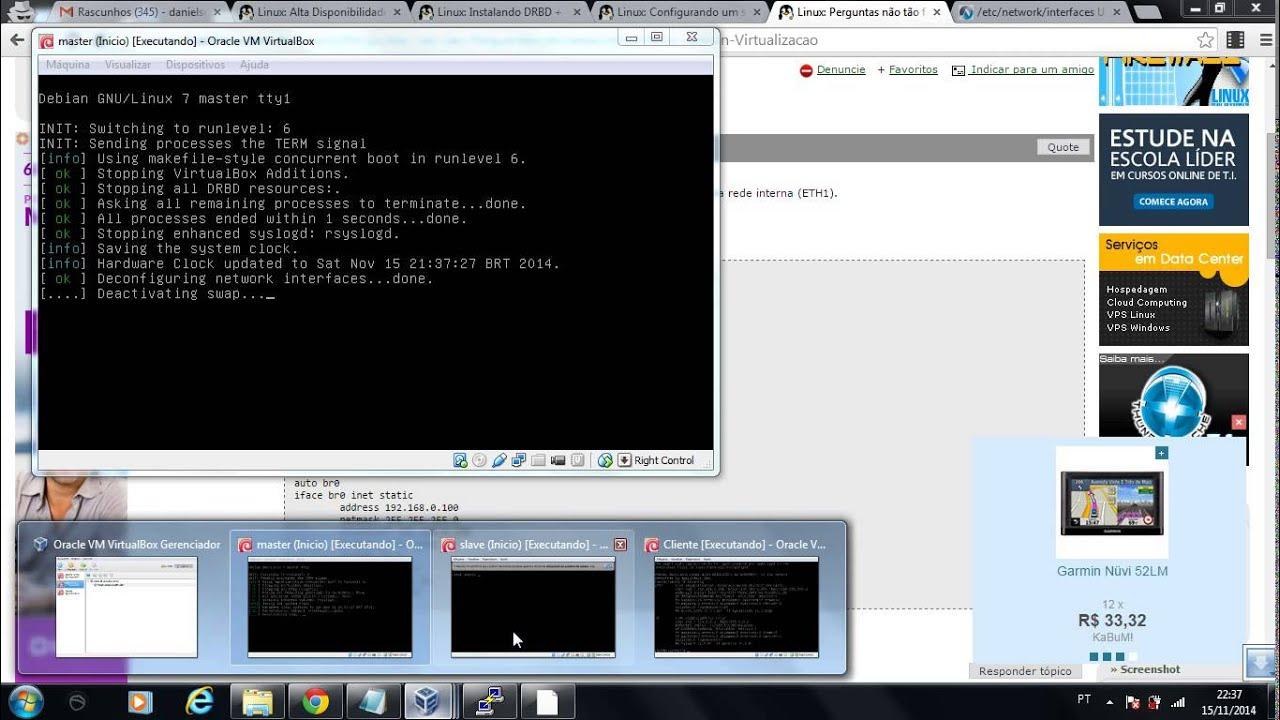 Alta Disponibilidade com Debian (Heartbeat + DRBD + NFS) parte 01