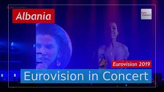 Albania Eurovision 2019 Live: Jonida Maliqi - Ktheju tokës - Eurovision in Concert