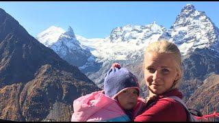 ДОМБАЙ Поднимаемся с малышом на 3000 м Катаемся с Софией на подъёмнике
