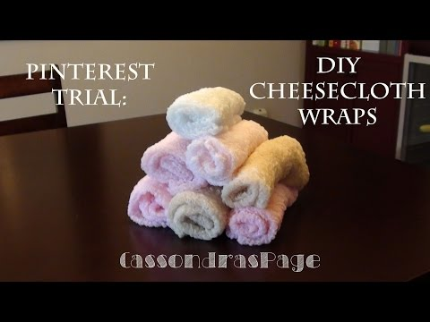 Pinterest Trial: Dying Cheesecloth Wrap | HeyCass