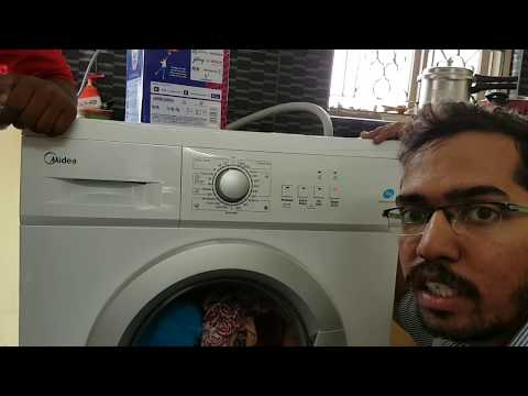 Midea 7 Kg Fully Automatic Front Load Washing Machine Demo given by Midea Service Executive (Telugu)
