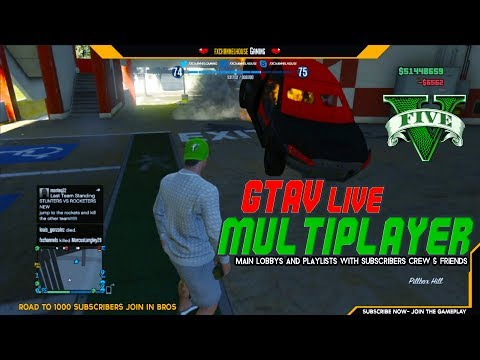 GTAV LIVE PS3 MULTIPLAYER  - Main lobbys and playlists with subscribers crew & friends