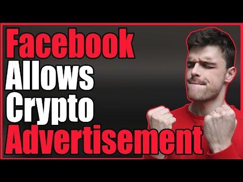 Facebook allows Crypto