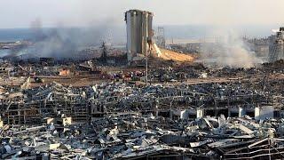 شاهد: دمار واسع في بيروت غداة انفجار المرفأ وحصيلة القتلى تتخطى المئة …