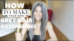 Grey hair extensions | Stay cool stay chic in my 50's