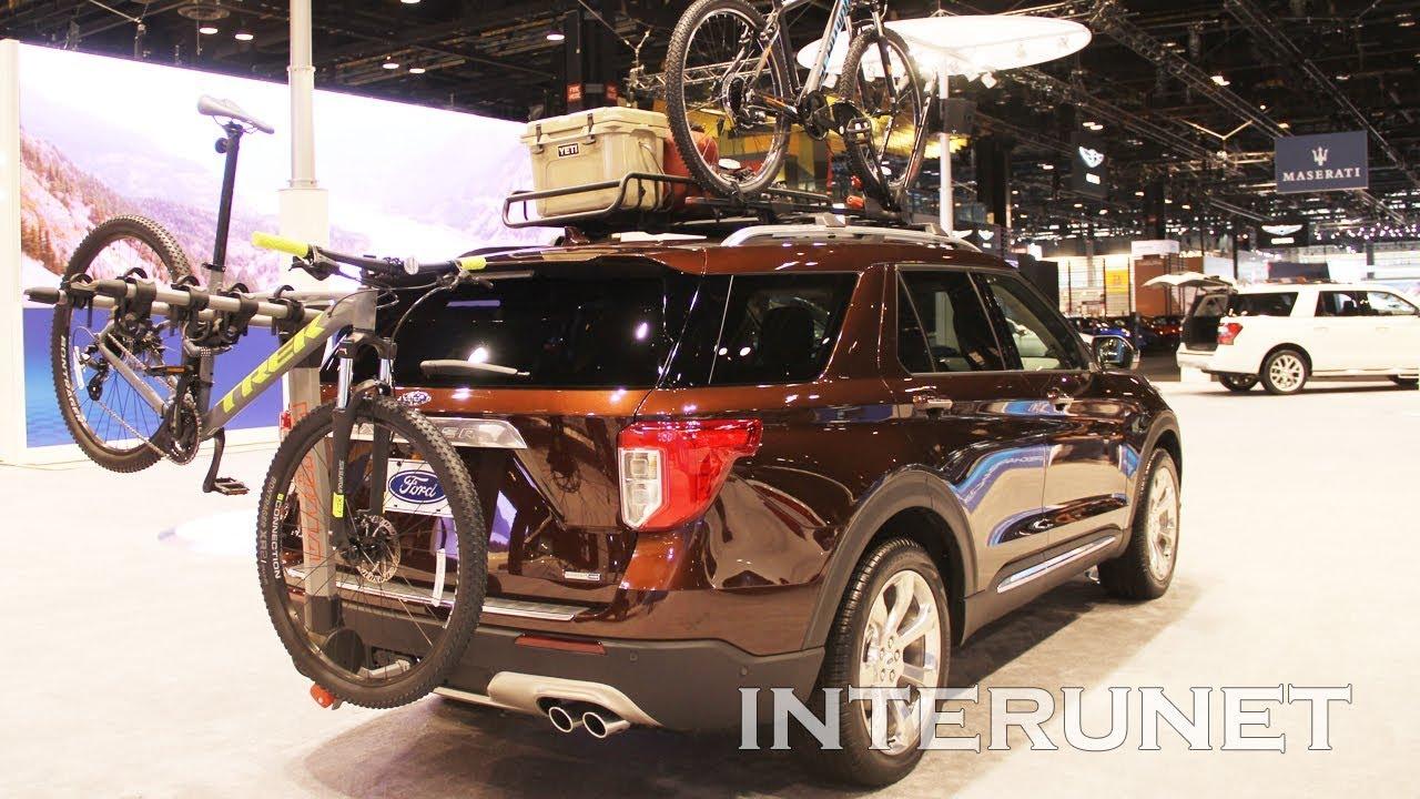 Best Hitch Bike Rack 2020 2020 Ford Explorer Platinum with Rack Roof Mounted Cargo Basket