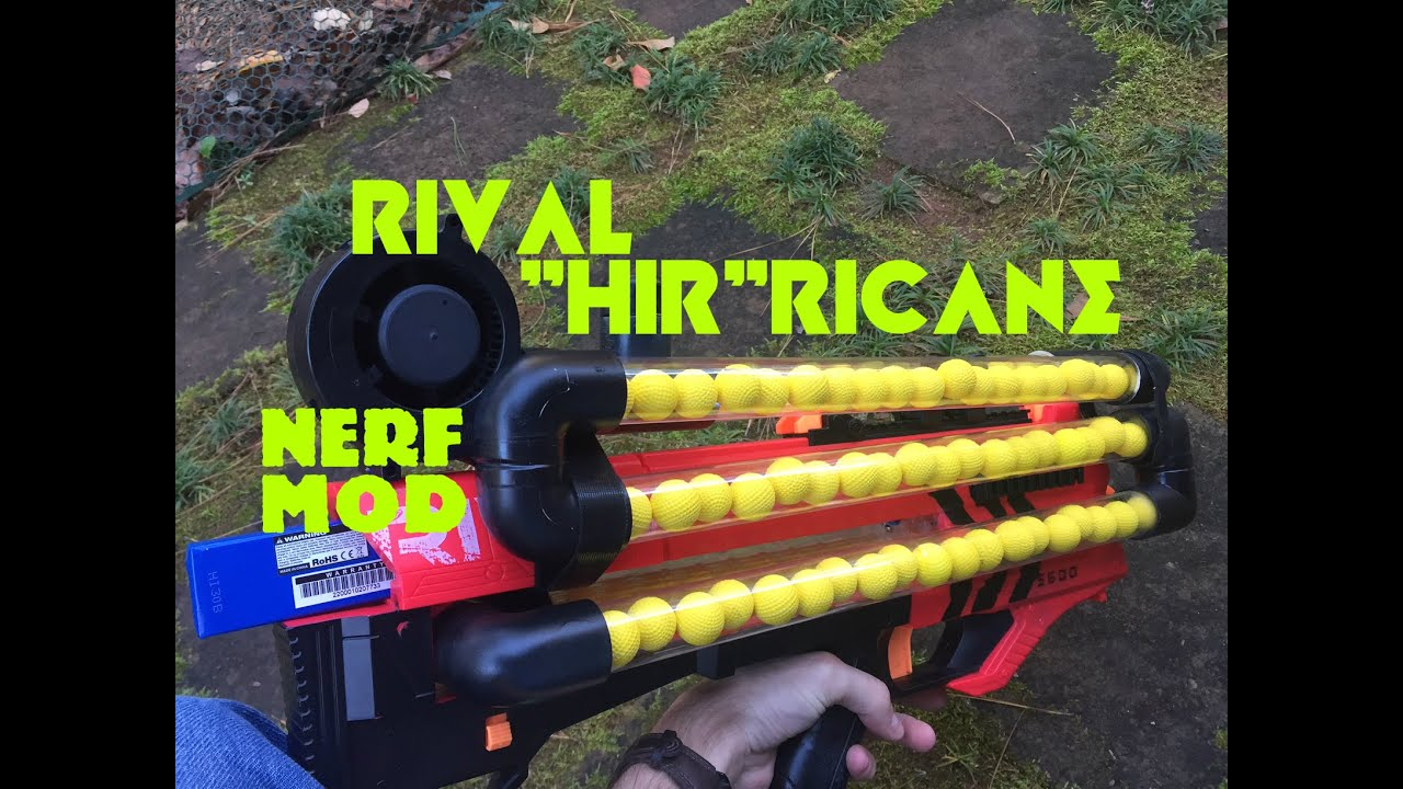 NERF MOD 108 Round Rival Hirricane Insane Ball Blaster by Out Darts