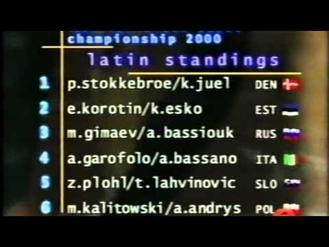 The 2000 IDSF World 10 Dance Championships in Helsinki