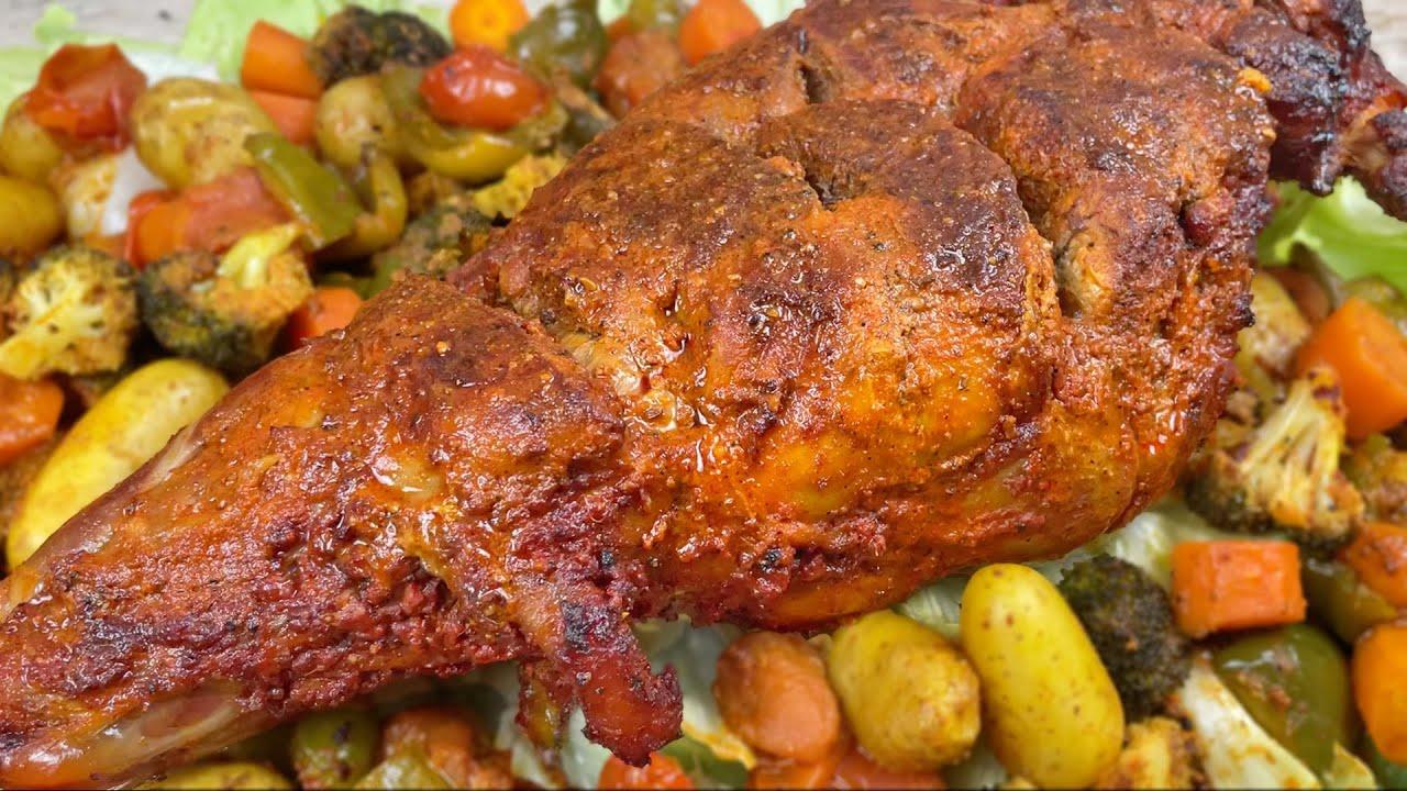 Tandoori Leg of Lamb Recipe • Roast Lamb Leg Recipe • Mutton Raan Roast • Lamb Roast Dinner Recipe