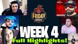 FRIDAY FORTNITE WEEK 4 HIGHLIGHTS! WIN VBUCKS INSTANTLY! ninja ghost faze