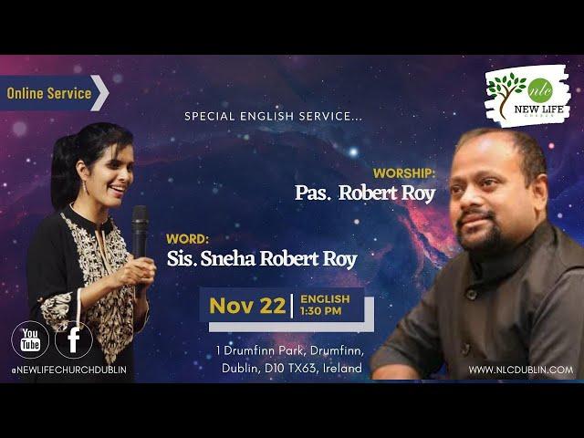 Join Us English Worship Service | New Life Church Dublin | Ps. Mathew | 22-11-2020