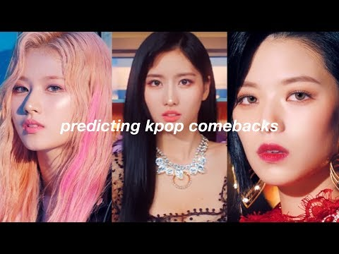 predicting kpop comebacks