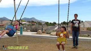 Children In The Park, Swing Set