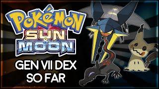 Pokémon Sun and Moon | Gen VII Dex So Far