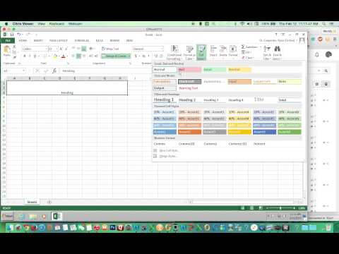 Excel How to Merge & Center and  Apply...