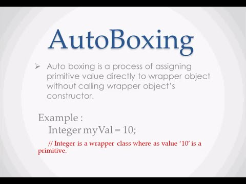 What is Auto boxing and Auto unboxing in Java  YouTube