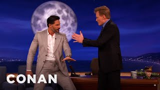 Joe Manganiello Teaches Stripper Moves To Conan
