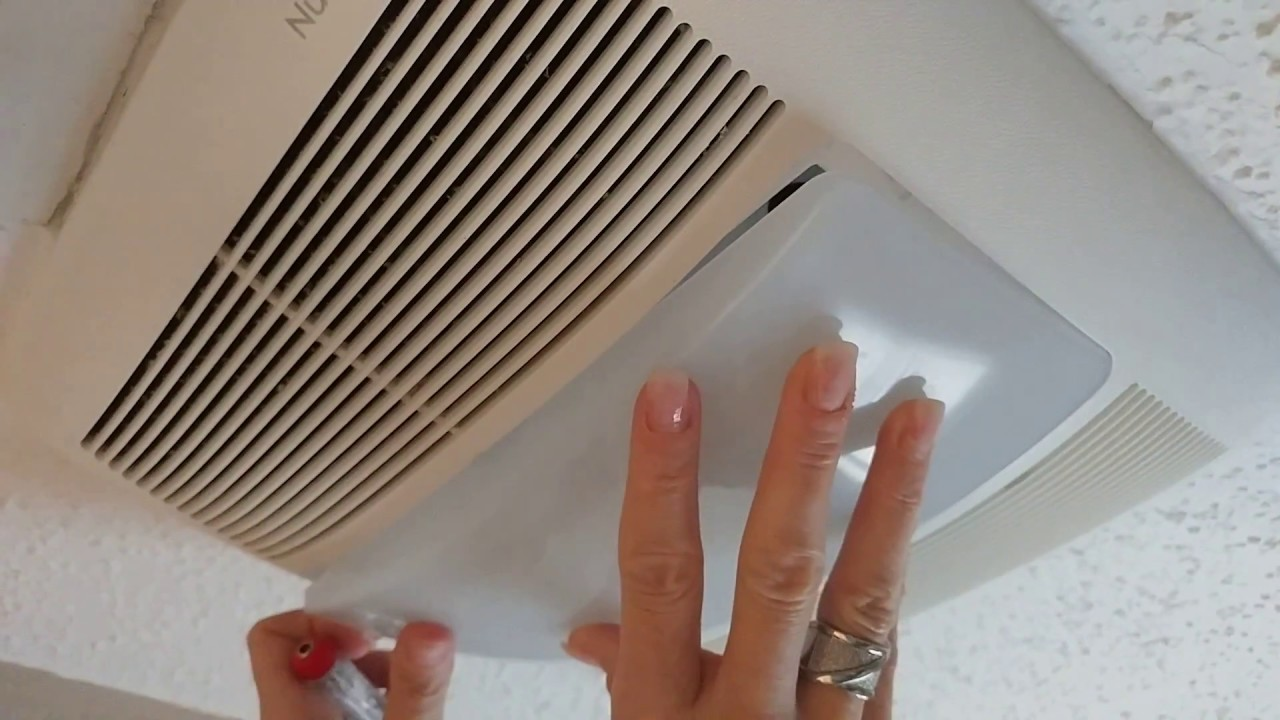 How To Replace A Bathroom Exhaust Fan Light Bulb Broan ...