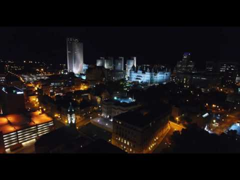 Albany New York at night in 4k