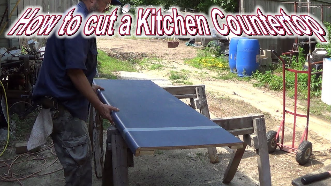 How To Cut A Kitchen Countertop Youtube