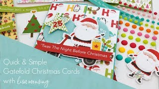 Quick and Simple Handmade Gatefold Christmas Cards