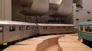 Model Subway Train - Moving Platforms Innitiative