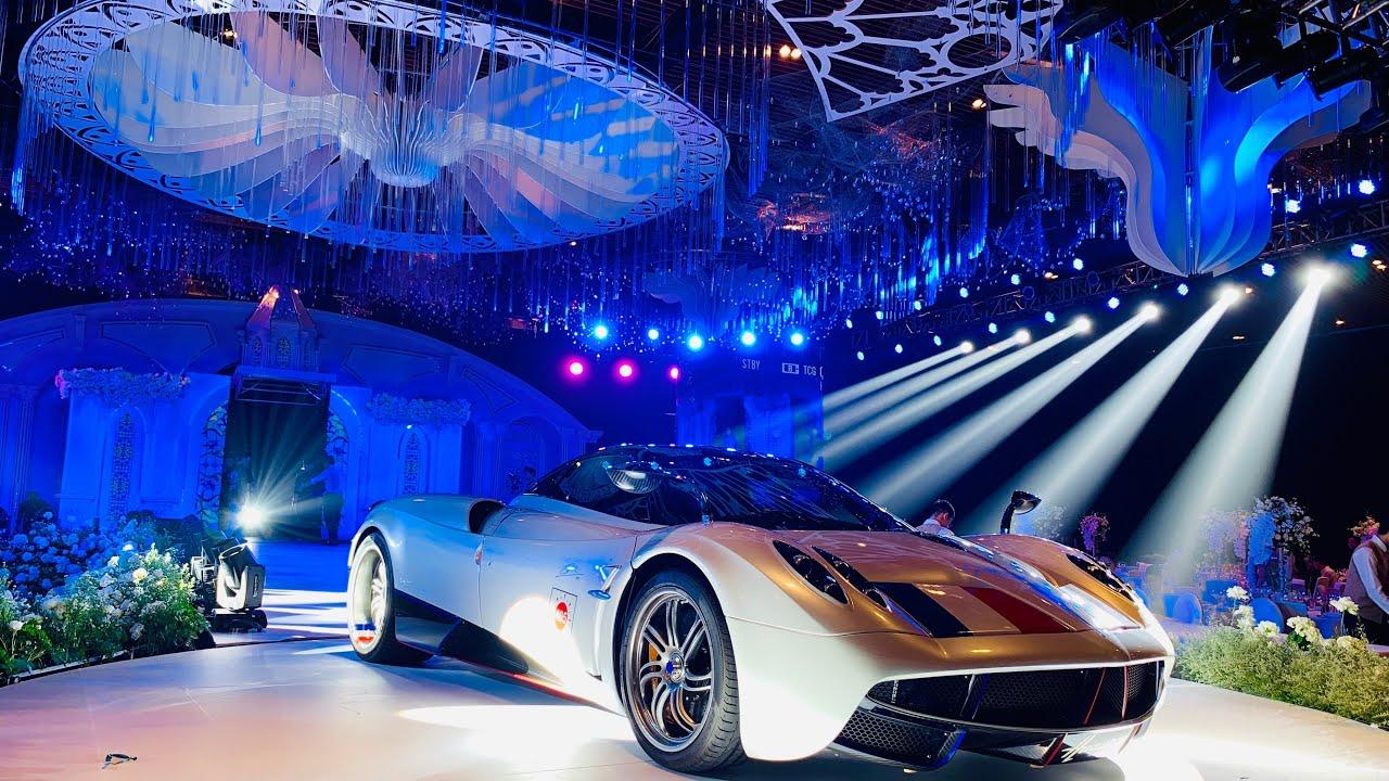 Minh Nhựa lái siêu xe Pagani Huayra 80 tỷ cực ngầu trong đám cưới con gái