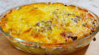 Мясо В Духовке с Картошкой Грибами и Сыром Ольгины Рецепты