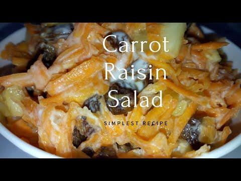 CARROT RAISIN SALAD | Homemade Carrot Salad