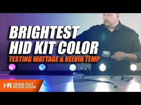 Which HID Headlight Color is the Brightest? 35w or 55w? Color Shift and Lux Explained!