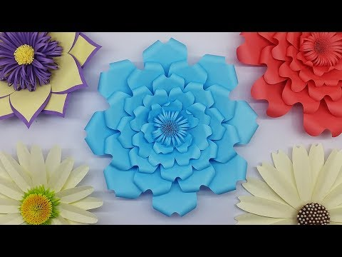 Giant Flower assembly | Paper Flower Backdrop | DIY Paper Flowers