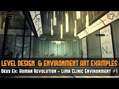 Game Environment Example: Deus Ex: Human Revolution - Limb Clinic Environment #1