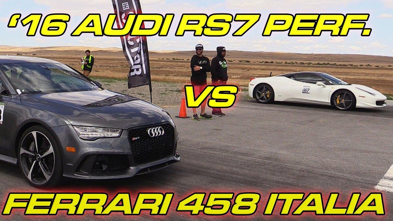 Audi Rs7 Performance Vs Ferrari 458 Italia Video Phim22 Com