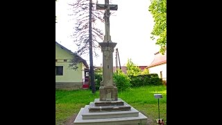 Odhalenie pieskovcového kríža v Lipovej aleji