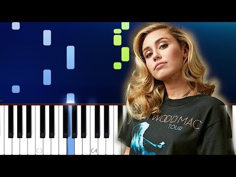 Miley Cyrus, Mark Ronson - Nothing Breaks Like A Heart (Piano Tutorial