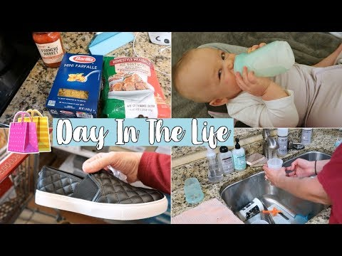 DAY IN THE LIFE OF A SAHM WITH A BABY - SOLO MOMMY | Shop With Me/ Cook With Me