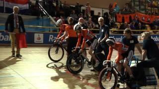 WK Paracycling baan 2015 - Teamsprint; Alyda, Arnoud en Sven