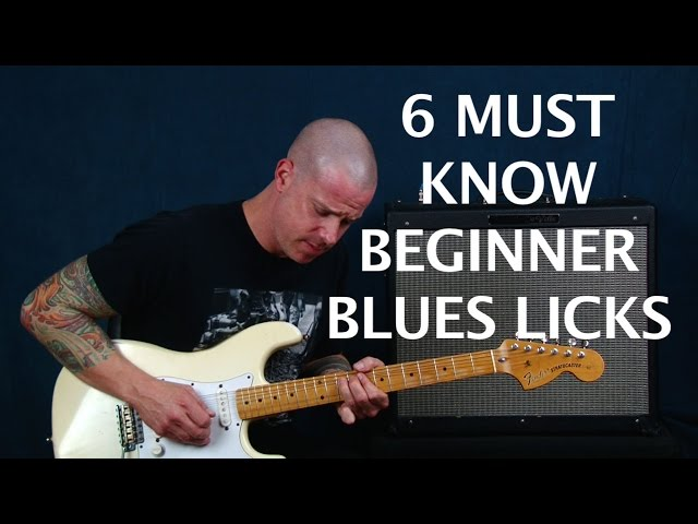 6 Must Know Beginner Blues Guitar Licks & How To Build Solos With Them (EASY)