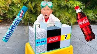 सेन्या और उनके प्रयोग: कोका-कोला और मेंटोस