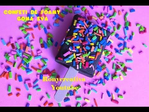 C mo hacer confeti de foamy para manualidades y fiestas for Como hacer confeti