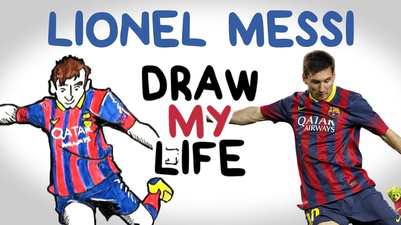 Football players drawings messi