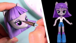 CUSTOM My Little Pony MAUD PIE Equestria Girls Minis Doll MLP Tutorial | SweetTreatsPonies