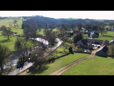 Aerial footage of Thorpe Cloud (Dovedale) & Ilam Village