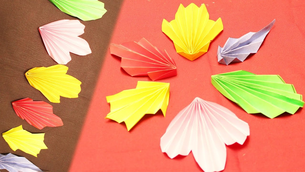 How To Make 6 Simple Easy Paper Leaves Diy Paper Craft Ideas