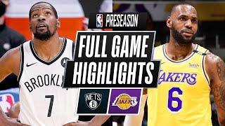 Los Angeles Lakers vs. Brooklyn Nets Full Game Highlights | NBA Pre Season 2021-2022