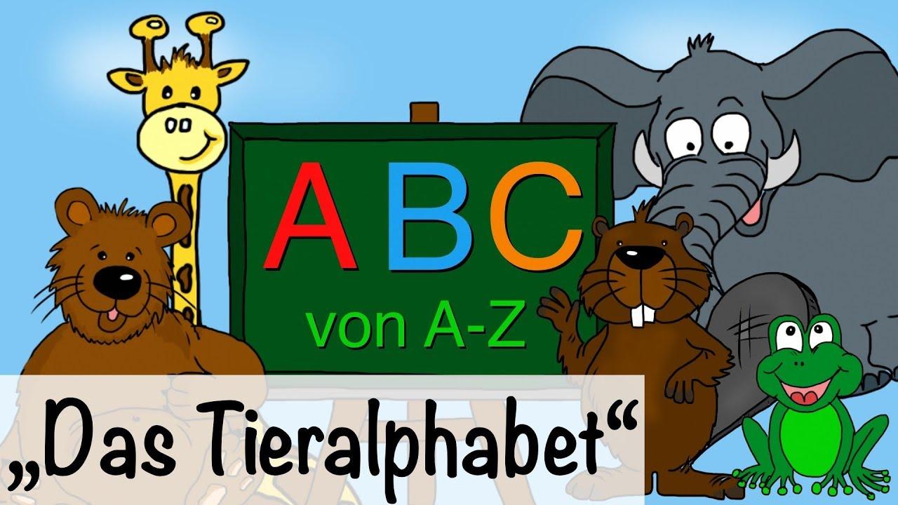 🎵 ABC Lied ( ABC Song) - Alphabet deutsch lernen - Kinderlieder ...